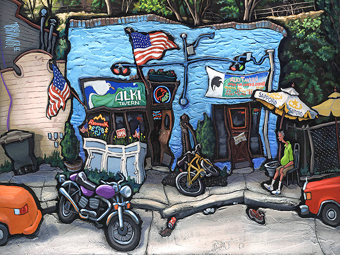 Alki Tavern — Seattle#No Signed Limited Edition# 28x36  $500#18x24  $250