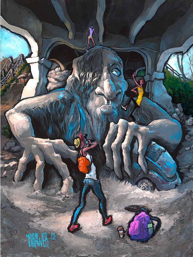 Fremont Troll — Seattle#No Signed Limited Edition 36x28  $500#24x18  $250