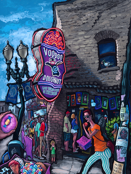 Voodoo Doughnut — Portland<br>48x36  $1,000  Signed Limited Edition <br>36x28  $500<br>24x18  $200