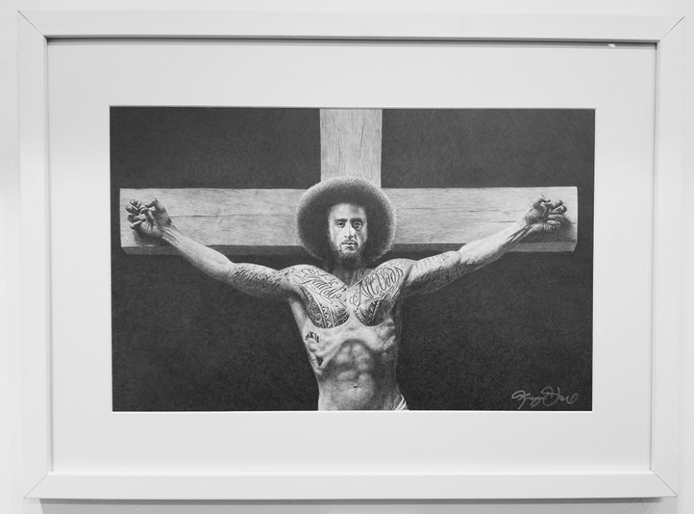 """The (Un)Chosen One#Graphite on Paper#14 x 24 inches#$2,500"