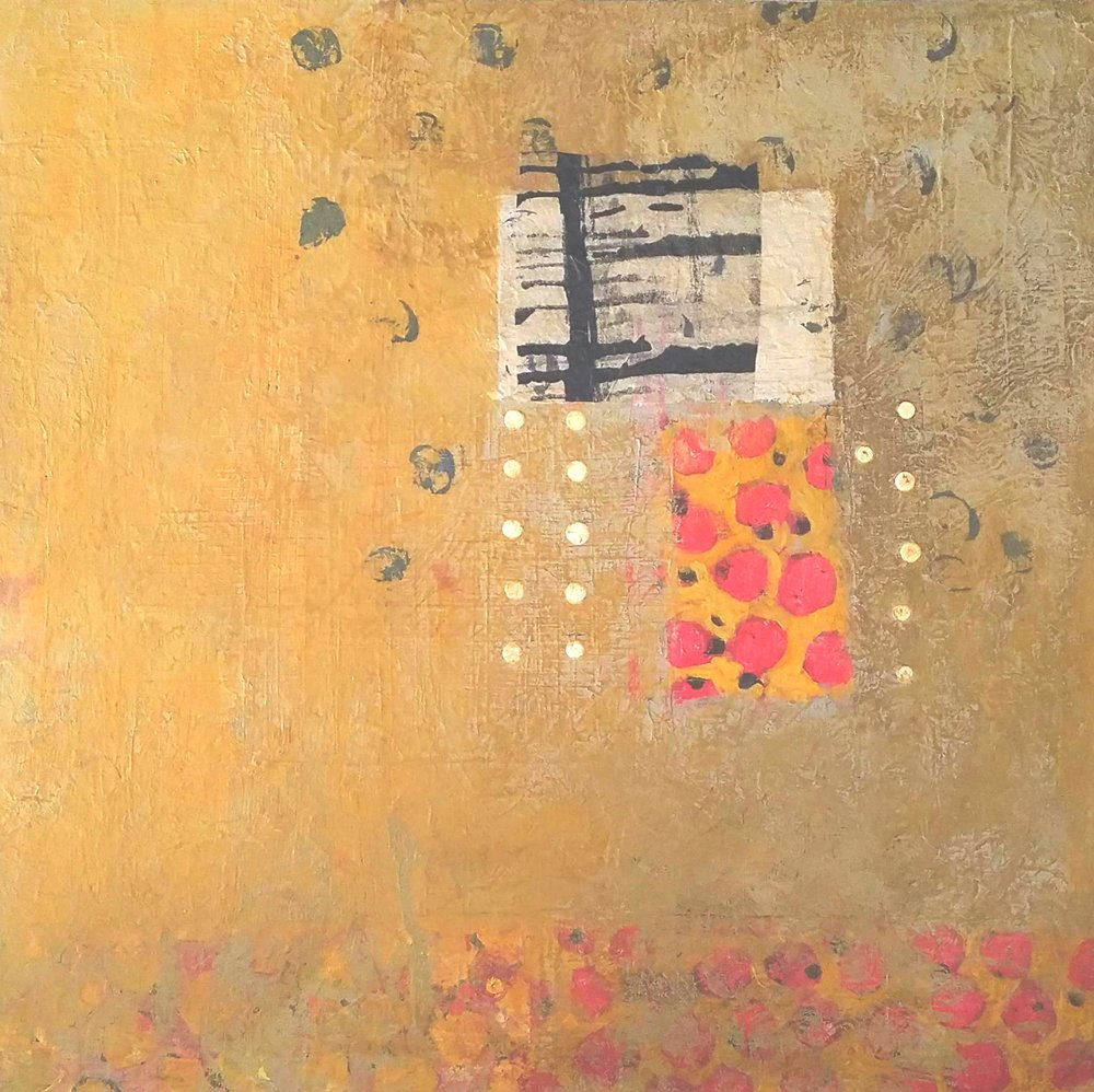 Untitled#Mixed media on panel#36 x 36 inches#$3,000