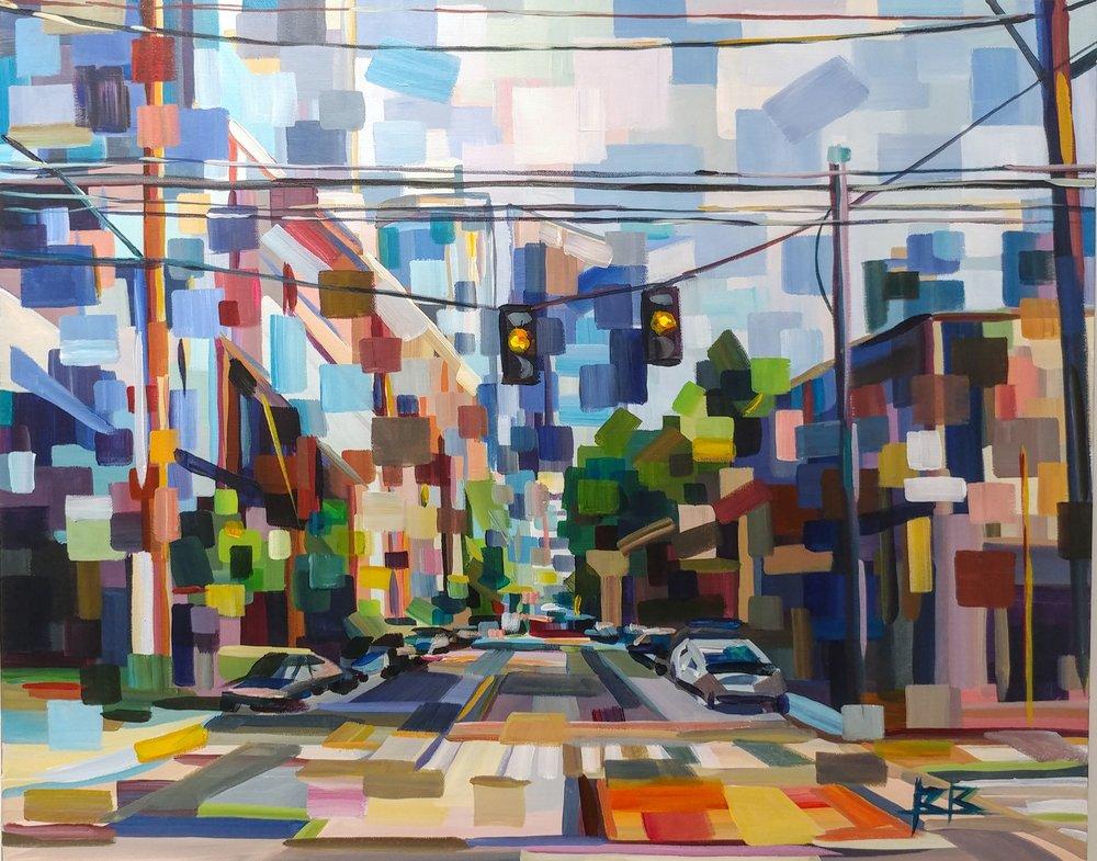 SLU#Acrylic on canvas#20 x 30 inches#$1,600