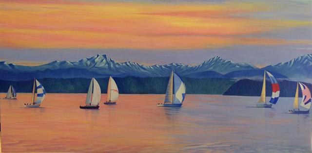 Quiet#Oil on canvas#30x60#$2,500