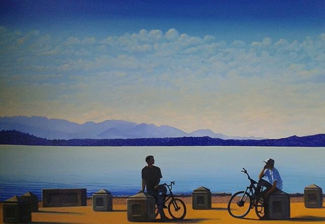 Romeo & Mercucio#Oil on canvas#30x40#2,200