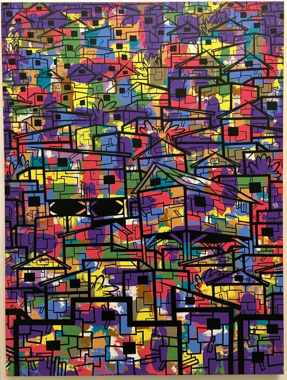 sLum 6#Acrylic & ink on canvas#48 x 36 inches#$3900