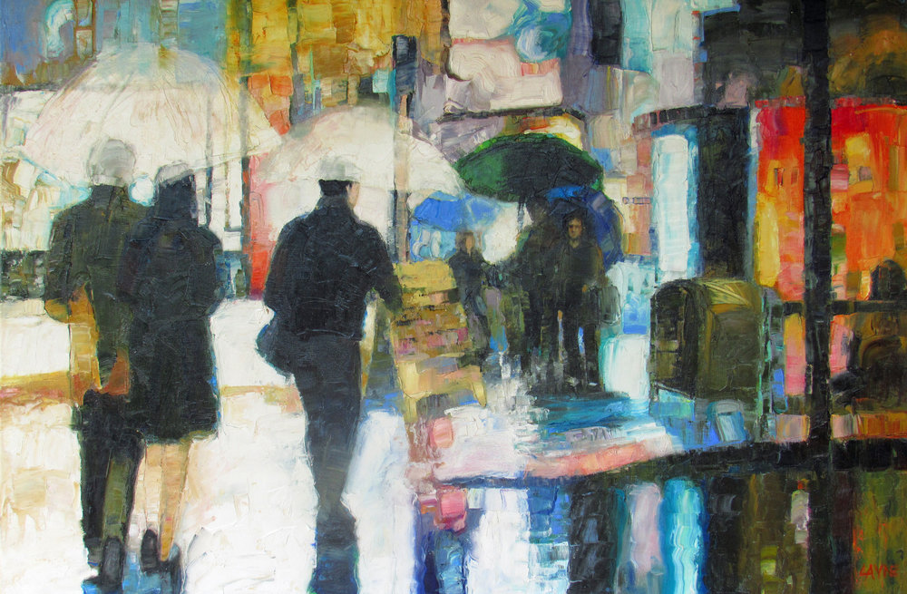 Rainshine#Oil on canvas#24x36#SOLD