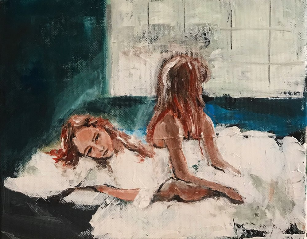 2am, 3am#Acrylic on canvas#8 x 10 inches#$250