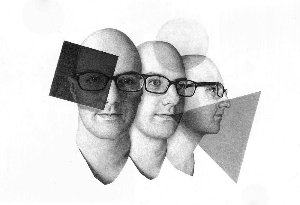 Senses of Perception#Graphite on paper#15 x 22 inches#$2500