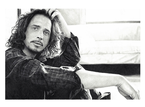 Chris Cornell#Limited Edition print on fine art paper#17 x 22 inches #$250
