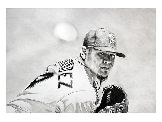 King Felix#Limited Edition print on fine art paper#17 x 22 inches#$250