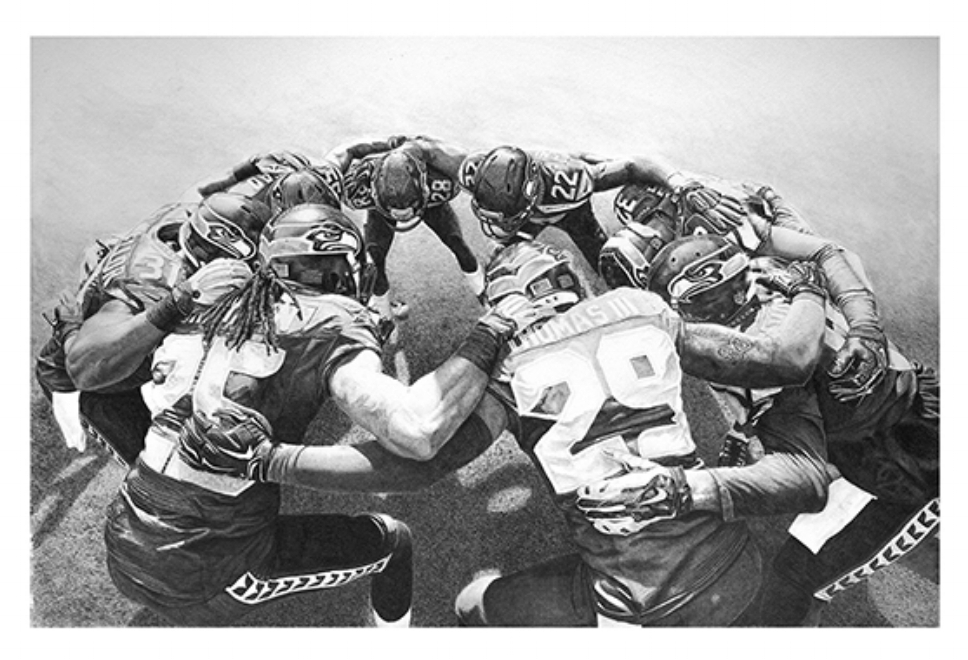 The Huddle#Limited edition print on fine art paper#16 x 22 inches#$250