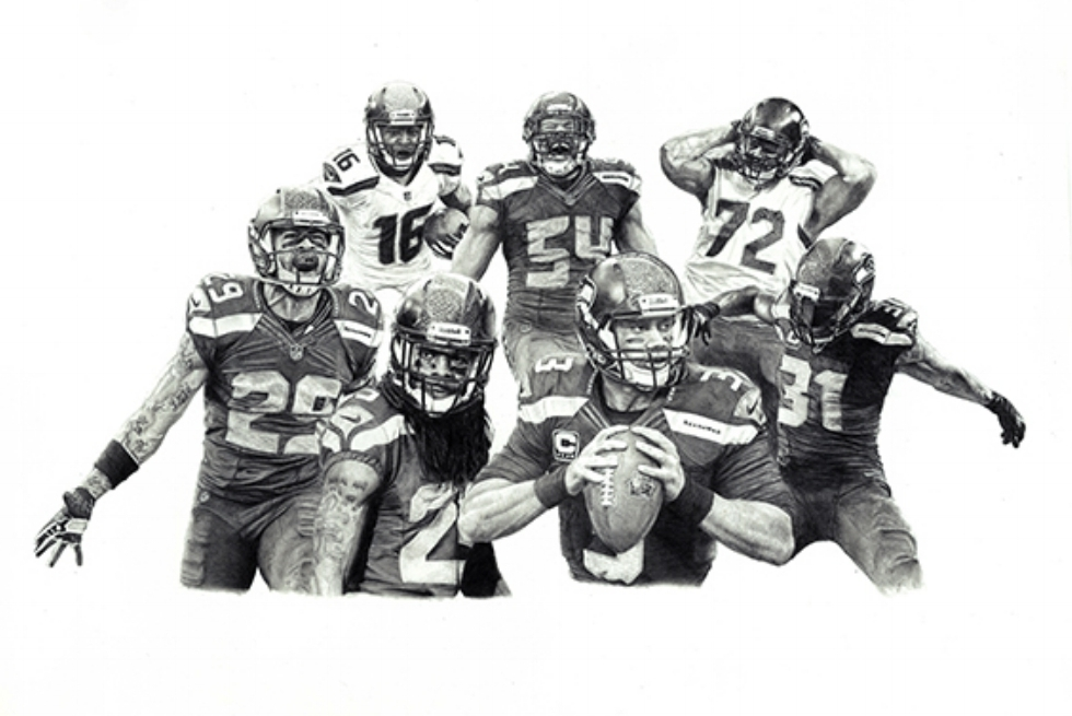 Pro Bowlers#Limited edition print on fine art paper#15 x 22 inches#$250