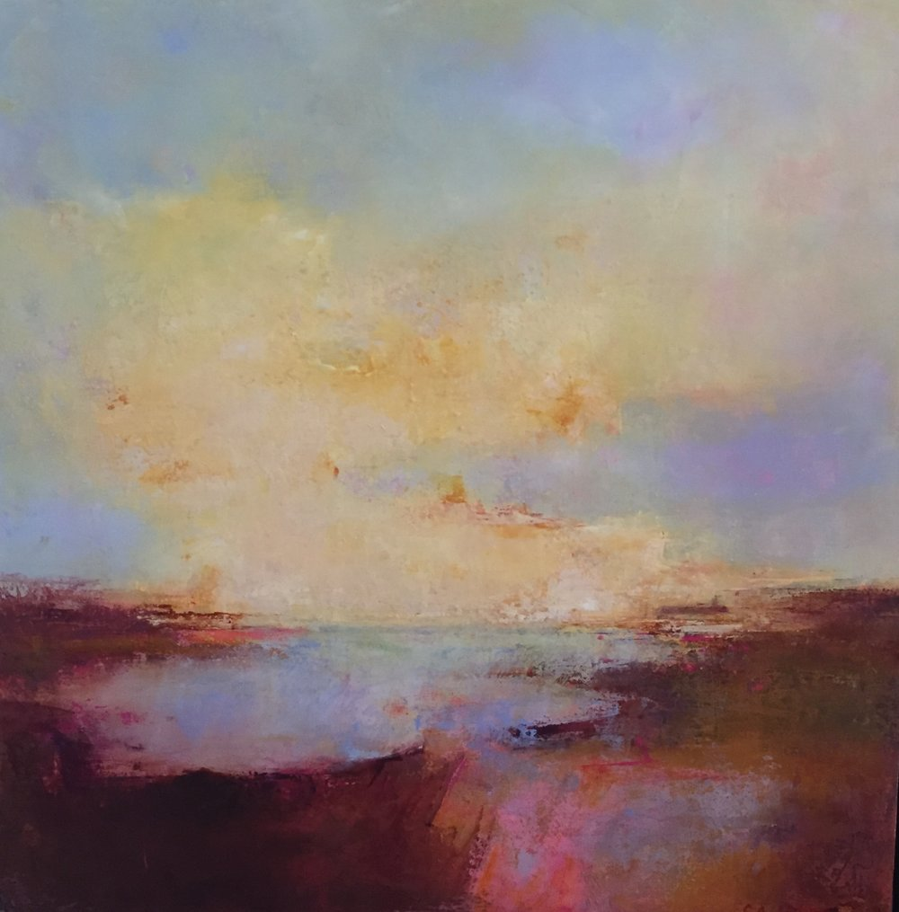 Upward#Acrylic on canvas#24 x 24 inches#SOLD