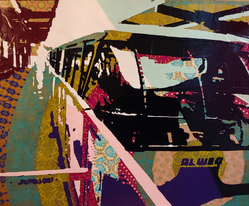 The Monorail No. 4#Paper on panel #27 x 33 inches#$1,300