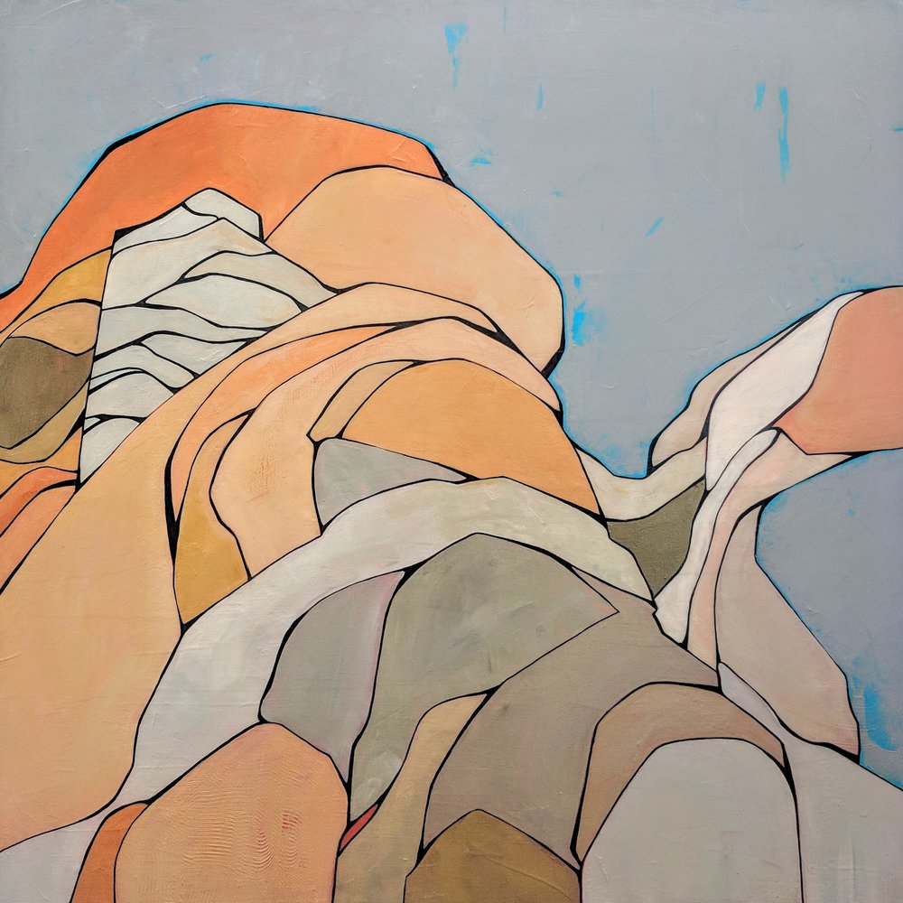 Canyon of Self Examination#Acrylic on wood#32 x 32 inches#$1,800