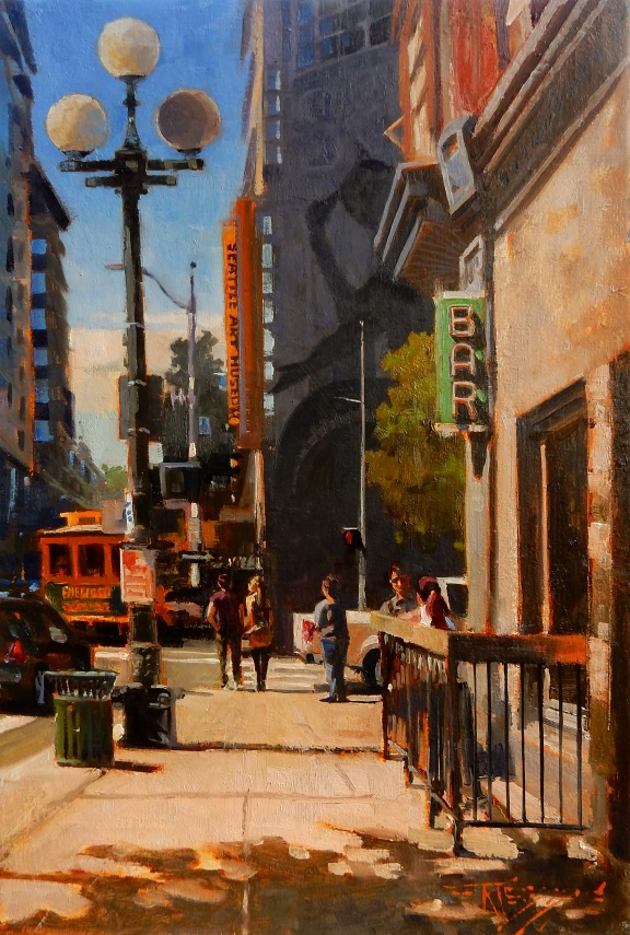 Hammered Seattle# Oil on linen#28 x 15 inches#SOLD