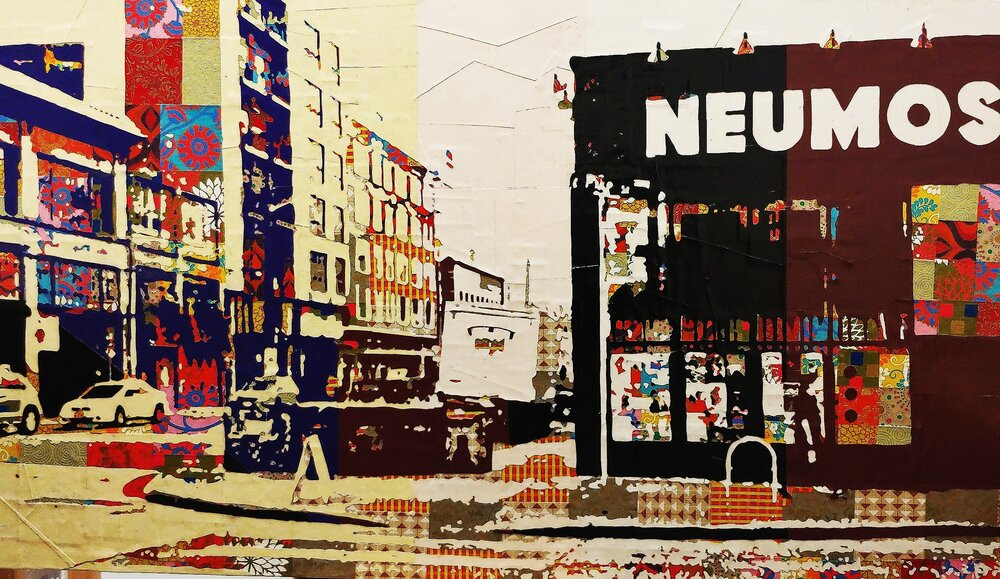Neumos# Paper on panel#24 x 42 inches#$1,650