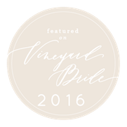 Featured on Vineyard Bride