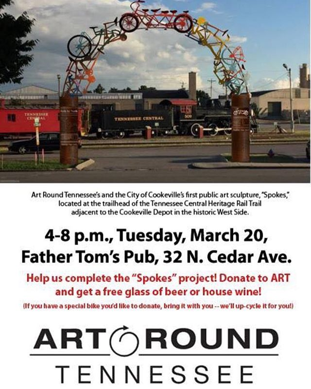 Make sure to come out to Father Tom's in #cookeville tomorrow evening to support Art Round Tennessee and this awesome public art project!
