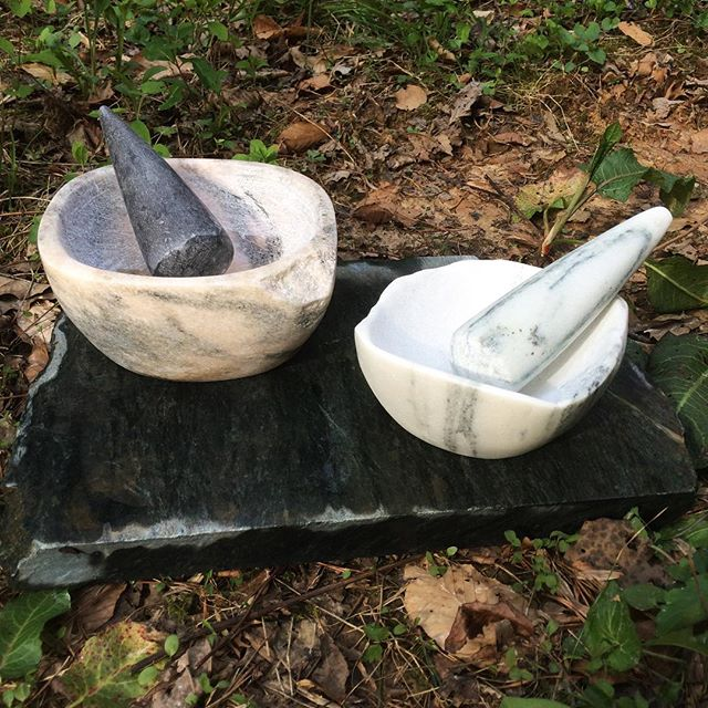 Getting new mortar and pestle sets polished and ready for the Emerging Makers Tent at the Spring Tennessee Craft Fair in Nashville on May 4, 5, & 6! _____________________  #tncraft #tncraftfair #tnartist #mortarandpestle #marble #georgiamarble #vermontmarble #tnmarblecompany #cumberlandplateau #art #sculpture #craft #handmade #kitchen #homedecor