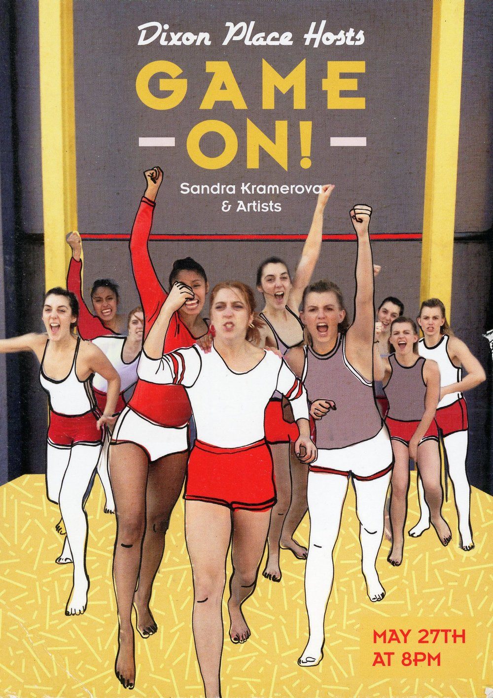 The poster from GAME ON!, a live dance performance that draws inspiration from the Czechoslovakian Spartakiads. (Courtesy Sandra Kramerová)