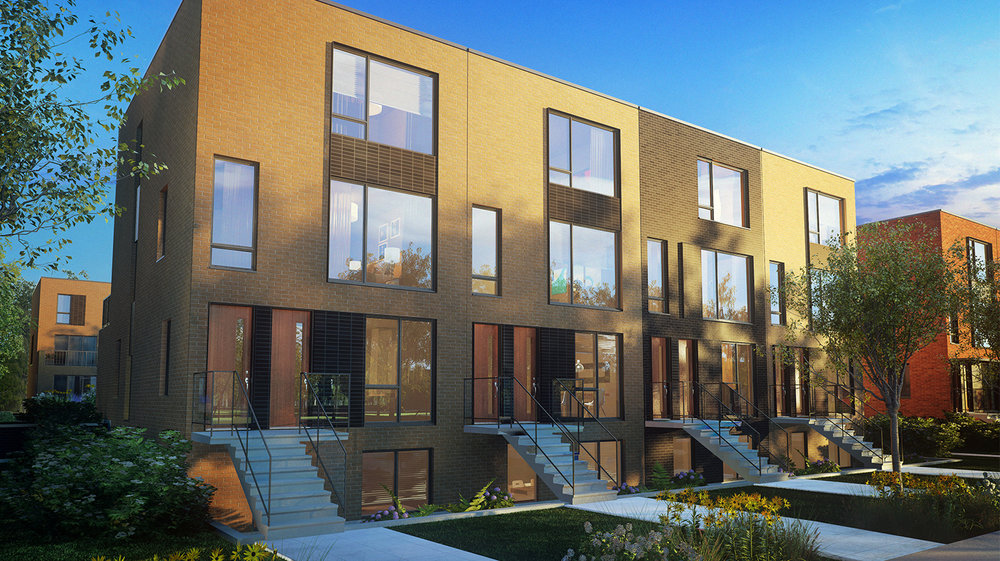 Stacked townhouses - The