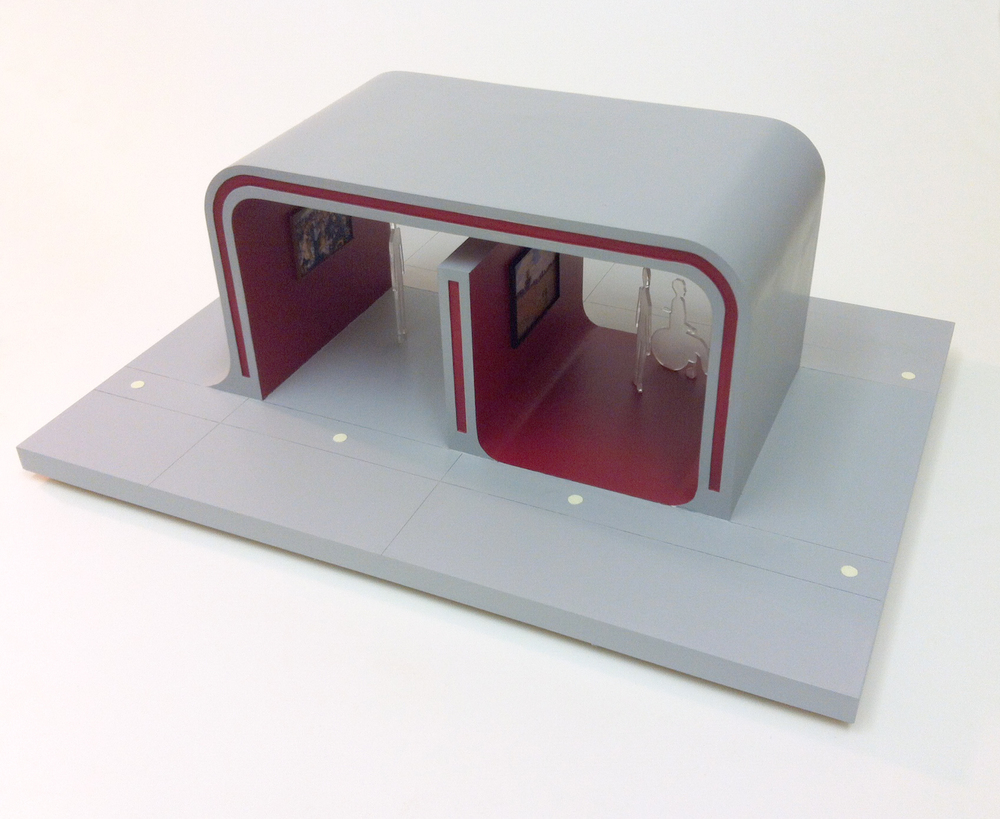 1:25 model of a modular system for displaying artworks