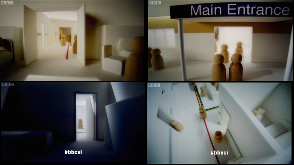 Diagrammatic model of hospital for use in BBC documentary