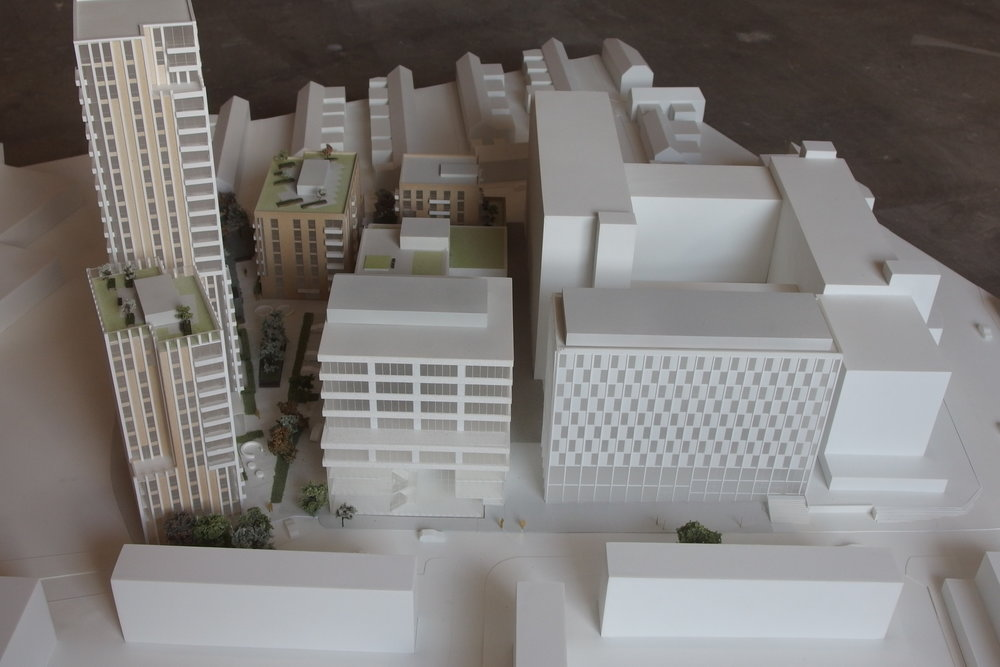 The detailed model of the Vauxhall development for 3DReid.