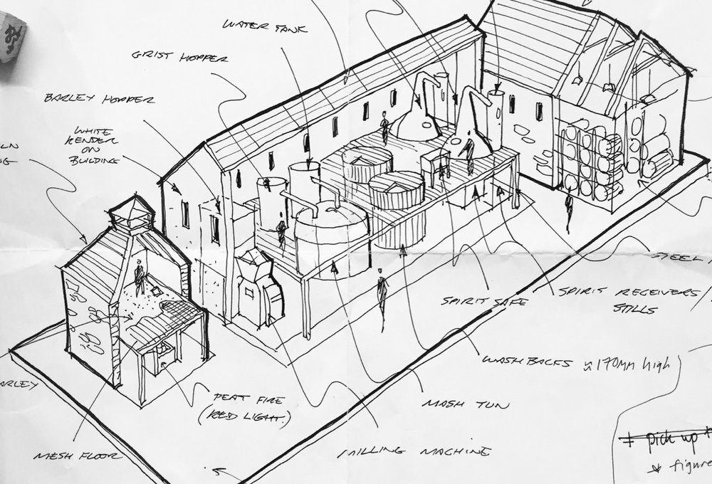 The sketch provided by Bright 3D, from which the design was developed.