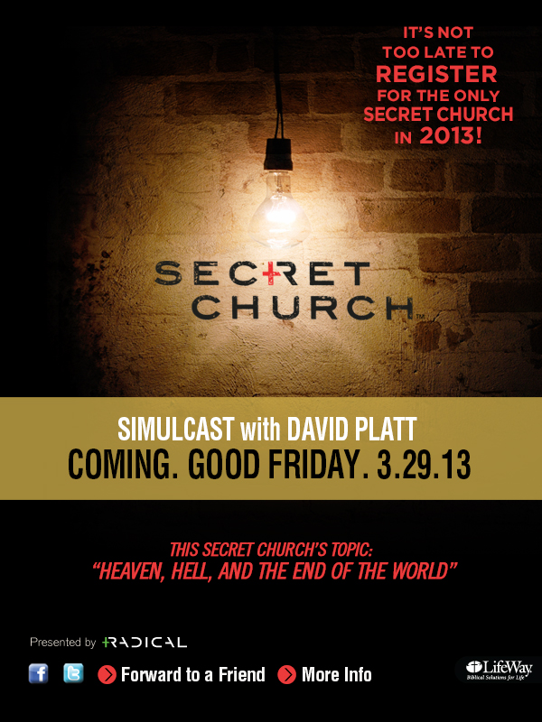 Secret Church Email