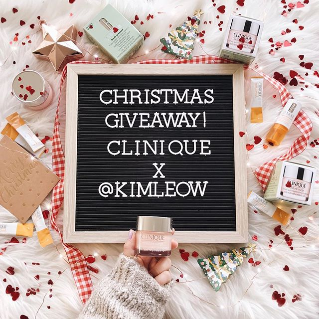 ❤️GIVEAWAY❤️ To celebrate the festive season, I've teamed up with one of my absolute favourite skincare brands, @clinique_oz to give some love back to YOU for following my journey thus far. —— Will be giving away one set of Clinique's Fresh Pressed 7-Day System and Moisture Surge 72-Hour Auto-Replenishing Hydrator to FIVE lucky winners. [The prize is worth $105 each! ] That's right! Not 1, not 2 but 5 of you! —— All you have to do is:  1. Follow @kimleow and @clinique_oz 2.Like this picture 3.Tag a friend in the comment section. BETTER YOUR CHANCES by tagging more than one friend in SEPERATE comments. —— Giveaway ends Monday, 3 December 2018. Winner will be announced in the comment section in this post. Must be above 16 years of age to enter. Must be residing in Australia only. This giveaway is in no way sponsored, endorsed or administered by, or associated with, Instagram.