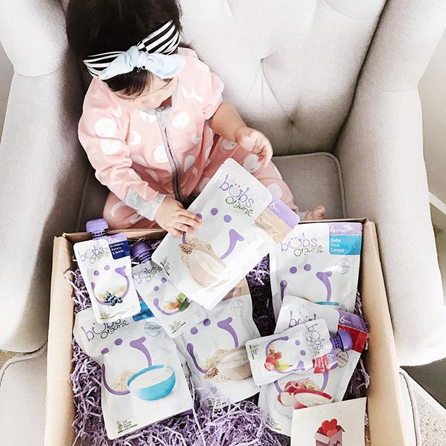 "Baby Emm unboxing her @bubsaustralia package! (You can watch her unbox over on story) —— . This parcel came just in time for our trip to Japan. Love having Bubs Organic products handy at home! Especially the pouches. I never travel without them- it saves me from having anxiety cause I know that Emm will have food wherever we are and I can trust that she's having a nutritious meal. Emm's favourite is still their Vegetarian Congee and mine is the Ancient Grain Porridge. We've been using these since Emm started solids ❤️❤️ . —— . Use ""KIM20"" to get 20%OFF Toddler Goat Milk and BUBS Baby food products, LINK IN STORY TO SHOP!  #bubsaustralia #bubspartner"