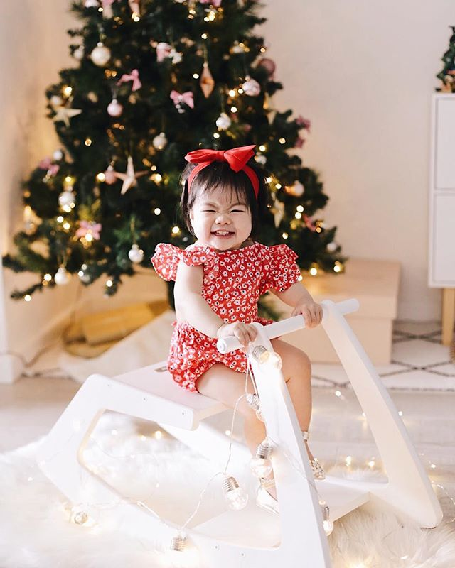 """Emma say cheese!� and she gave me the hardest 'Cheeseee' ever 😂������� Christmas time in Australia means you can dress up in cute onesies like this. Happy Boxing Day everybody. #emmachewables"