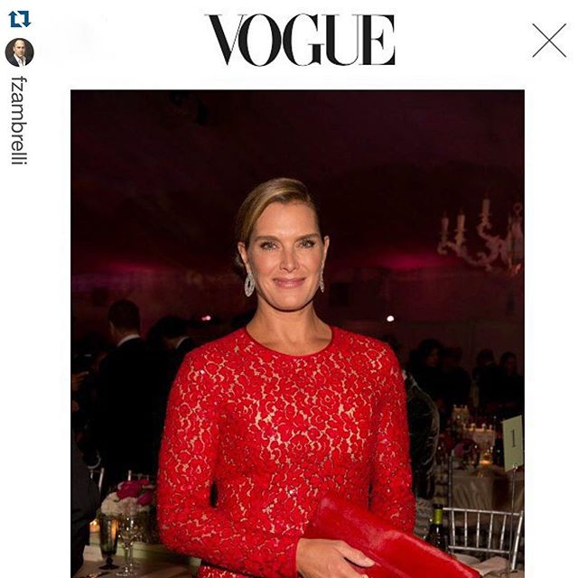 Congrats!! #Repost @fzambrelli with @repostapp. ・・・ Thank you Vogue!  Brooke Shields carry @1atelierluxury