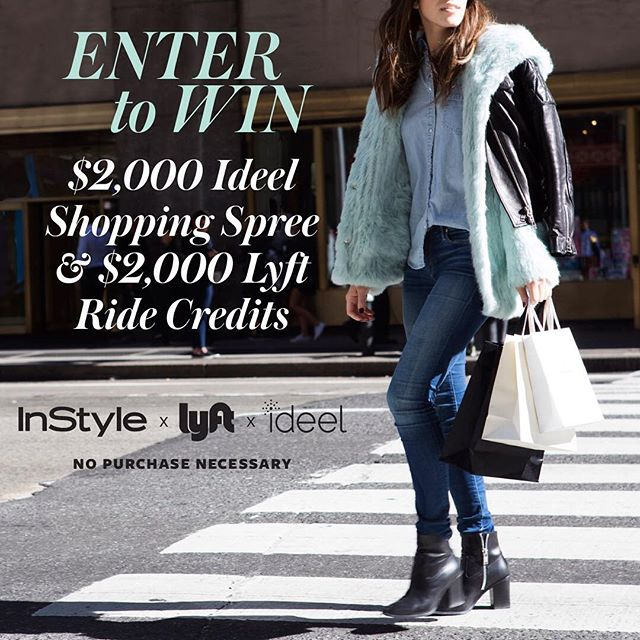 Enter now for a chance to win the ultimate New York City style experience with Ideel, @lyft and @instylemagazine ! Link in profile.