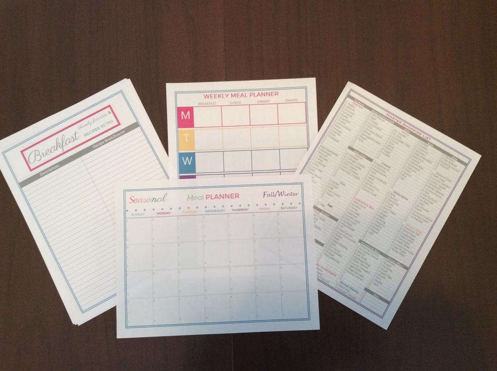 Meal Planning and Master Shopping List