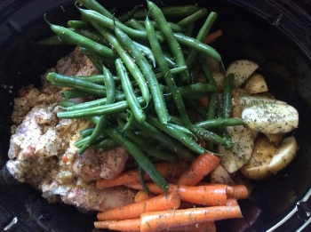 Italian Chicken with Carrots, Potatoes and Green Beans