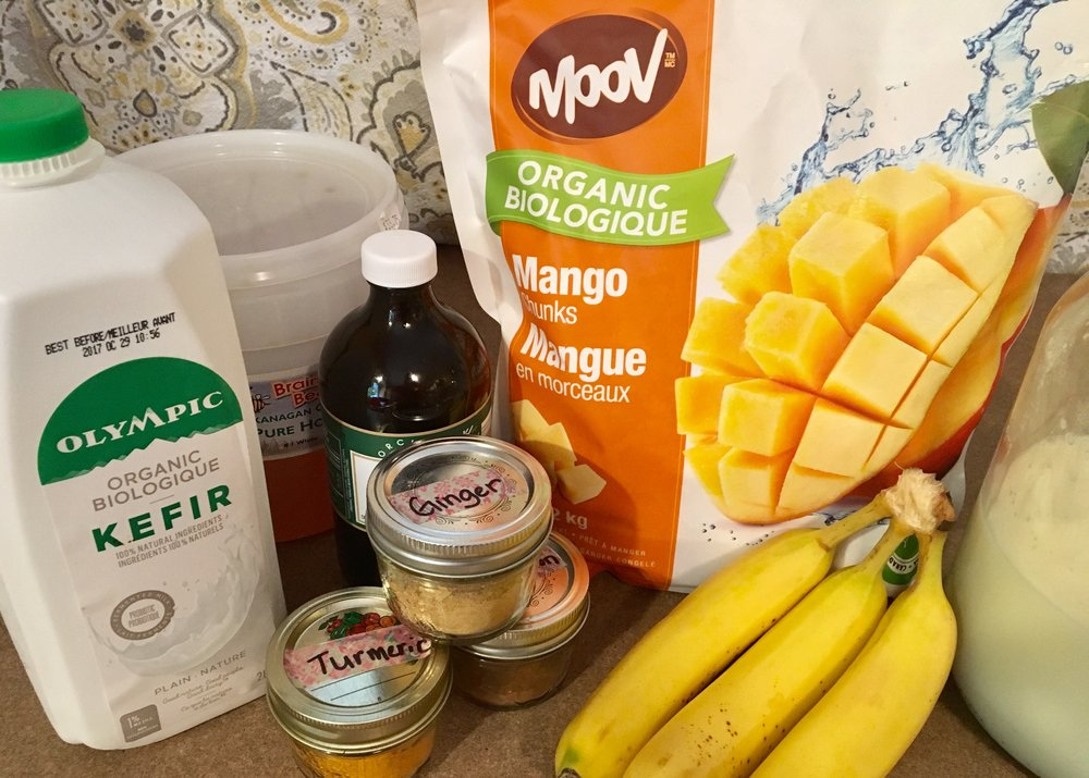 Mango Ginger Turmeric Smoothie Ingredients