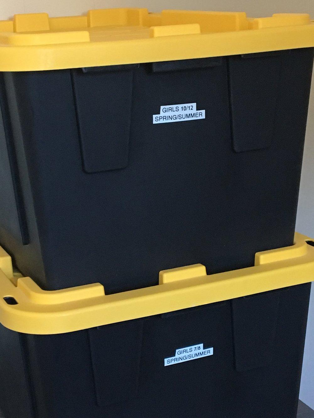 Off season storage bins & Organizing and Storing Kids Clothing u2014 Plum Cheeky Solutions-Lovin ...