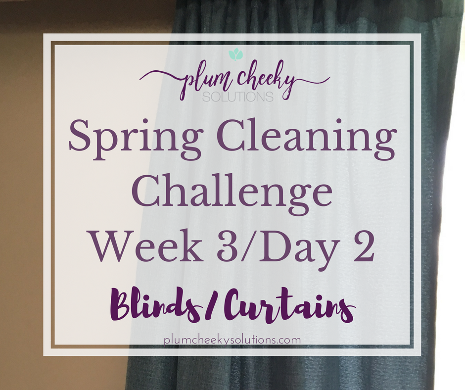 spring cleaning curtains and blinds