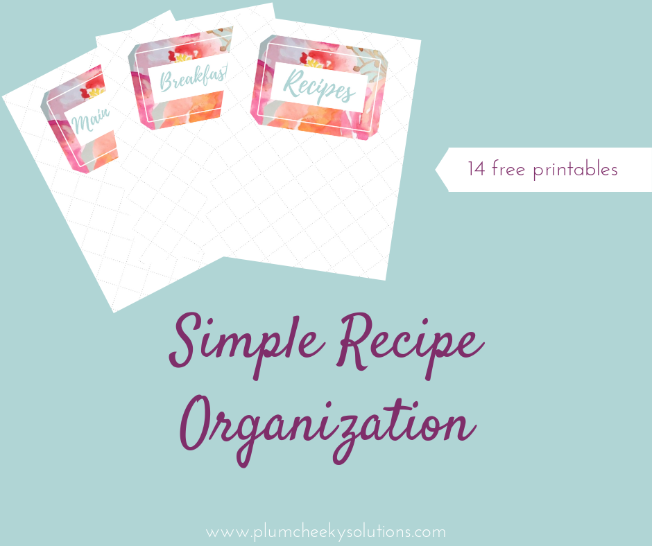 Free Printable Recipe Category Templates