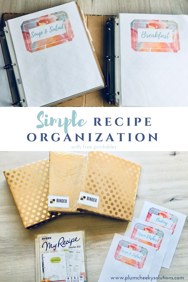 graphic about Free Printable Recipe Binder Kit called printable recipe binder package Scheduling Plum Cheeky