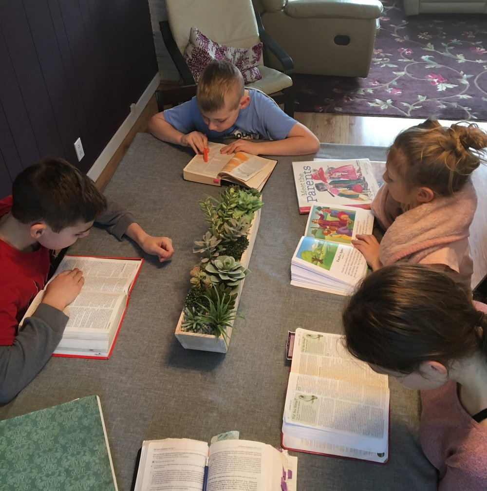 daily homeschool routine-bible