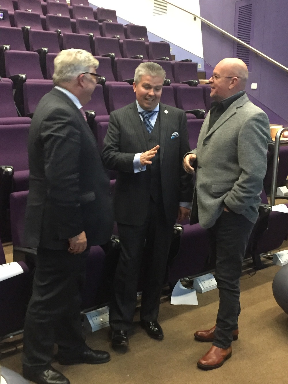 From left: Cllr Kevin Bentley, David Bell and James Whale