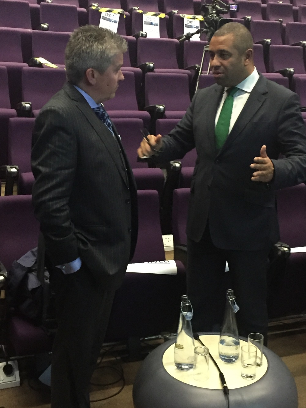 from left: David with James Cleverly MP