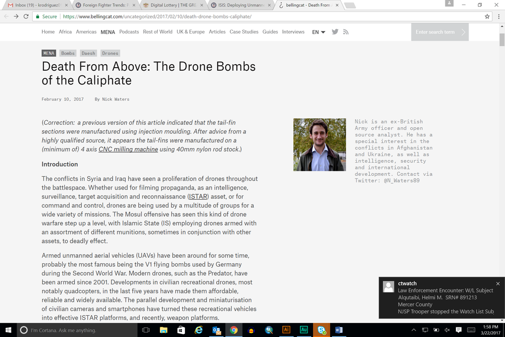 Death From Above: The Drone Bombs of the Caliphate