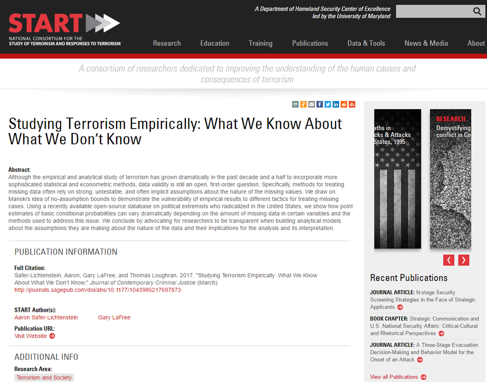 Studying Terrorism Empirically