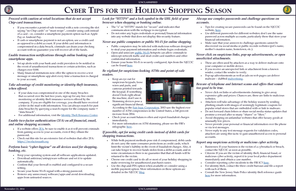 Cyber Tips for the Holiday Shopping Season