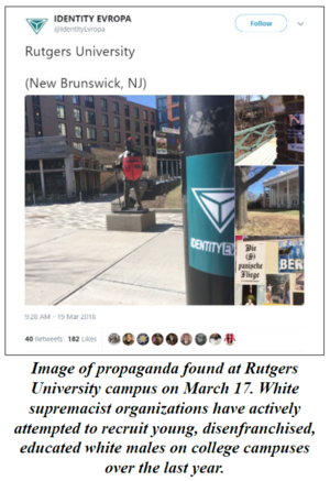 Recent White Supremacist Activity in New Jersey